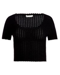 Alice + Olivia Black Ciara Top