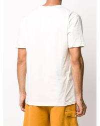 Tom Wood White Changes Logo-patch T-shirt for men