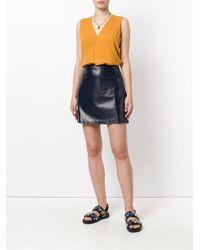 Theory - Blue A-ine Mini Skirt - Lyst