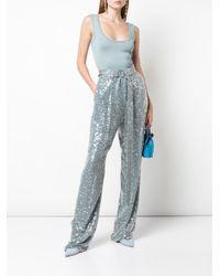 Sally Lapointe スパンコール パンツ Blue
