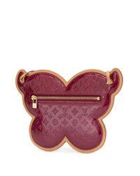 Louis Vuitton Pre-Owned Conte De Fees Butterfly Schoudertas in het Red