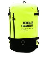 Moncler Shell backpack in Yellow für Herren