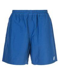 Neighborhood Blue Side Logo Track Shorts for men