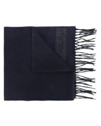 Dolce & Gabbana - Blue Fringed Scarf for Men - Lyst