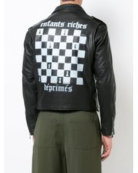 Enfants Riches Deprimes Black Cropped Biker Jacket for men