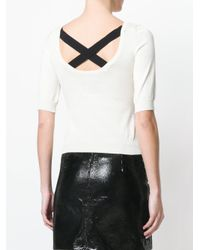 Moschino - White Fine Knit Sweater - Lyst