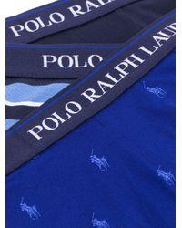 Lot de trois boxers à logo Polo Ralph Lauren pour homme en coloris Blue