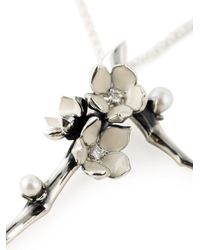 Shaun Leane Metallic 'cherry Blossom' Diamond Long Pendant Necklace