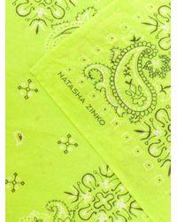 Sciarpa con ricamo paisley di Natasha Zinko in Yellow