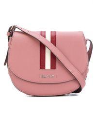 Bally | Multicolor Striped Trim Cross Body Bag | Lyst