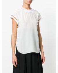 Fendi ブランドロゴ Tシャツ White