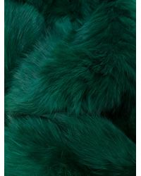 Yves Salomon - Green Four Lapin Scarf - Lyst