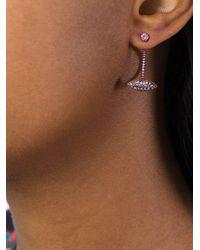 Delfina Delettrez Metallic 'lips' Pink Sapphire Earrings