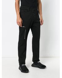 Lost and Found Rooms Black Slim Zip Trousers for men