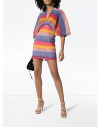 Плиссированное Платье Мини В Полоску ROTATE BIRGER CHRISTENSEN, цвет: Multicolor