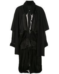 Manteau à empiècements superposés Raf Simons pour homme en coloris Brown
