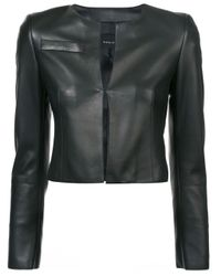 Akris Black Cropped Fitted Jacket