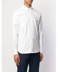 メンズ Maison Kitsuné ロゴ シャツ White