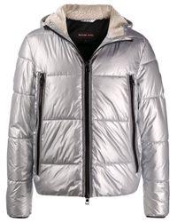 Michael Kors Gray Padded Hooded Jacket for men
