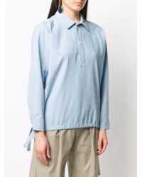 A.P.C. ドローストリング シャツ Blue