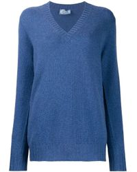 Prada Vネック セーター Blue