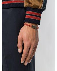 Prada - Red Double Braided Bracelet for Men - Lyst