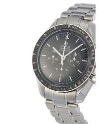 Наручные Часы Speedmaster Moonwatch Professional Pre-owned 42 Мм 2020-го Года Omega для него, цвет: Black
