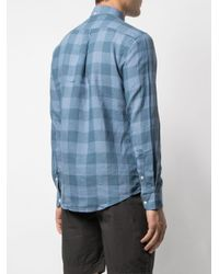 Portuguese Flannel Blue Checked Button-down Shirt for men
