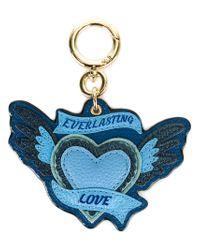 Burberry - Blue Heart Keyring - Lyst