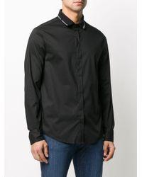 メンズ Emporio Armani ロングスリーブ ポロシャツ Black