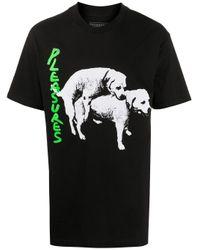 メンズ Pleasures グラフィック Tシャツ Black