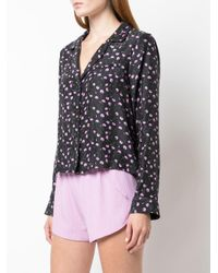 Fleur du Mal Black Carnation Pyjama Top