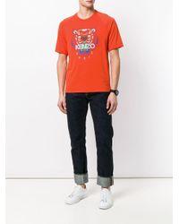 メンズ KENZO Tiger プリントtシャツ Orange