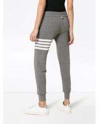 Thom Browne Gray Striped Knitted Track Pants