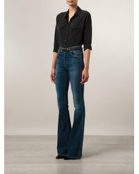 Citizens of Humanity Blue Flared High Waisted Jeans