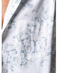 メンズ MARINE SERRE フローラル シャツ White