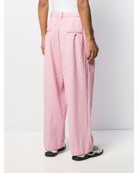 Pantaloni a gamba ampia di Marco De Vincenzo in Pink da Uomo