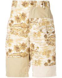 メンズ Engineered Garments Hawaiian トランクス水着 Natural