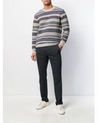 Pantalon slim classique Incotex pour homme en coloris Blue