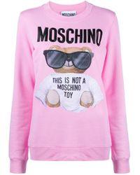 Moschino テディベア スウェットシャツ Pink