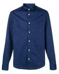 Camisa con estampado de ojos KENZO de hombre de color Blue