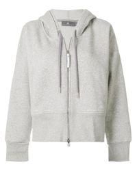 Adidas By Stella McCartney - Gray Essentials Hoodie - Lyst