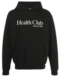 Sporty & Rich Health Club パーカー Black