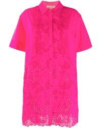 Ermanno Scervino エンブロイダリー シャツ Pink