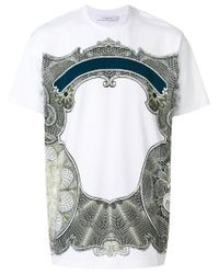 Givenchy White Baroque Patch T-shirt for men