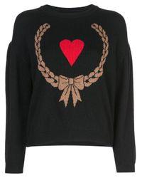 Boutique Moschino ハートモチーフ セーター Black