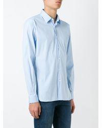 Burberry - Blue Slim Fit Stretch Cotton Shirt for Men - Lyst