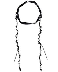 Ann Demeulemeester - Black Beaded Wrap-around Necklace - Lyst