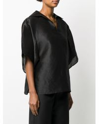Totême  Black Bluse mit kastigem Schnitt