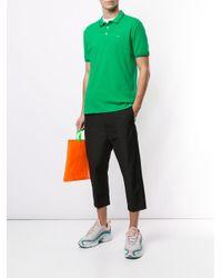 メンズ Emporio Armani ロゴ ポロシャツ Green